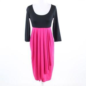 Fuchsia stretch DKNY 3/4 empire waist dress S